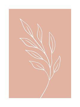 Rosa Blatt - Botanischer Druck von MDRN HOME