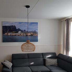 Kundenfoto: Sakrisøy, Lofoten, Norwegen von Adelheid Smitt, auf leinwand