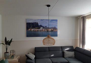 Klantfoto: Sakrisøy, Lofoten, Noorwegen van Adelheid Smitt