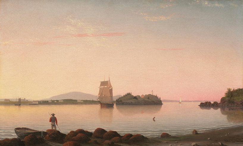 Owl's Head, Penobscot Bay, Maine, Fitz Henry Lane von Meesterlijcke Meesters