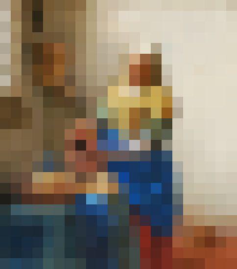 Pixel Art: Het Melkmeisje van J. C. Delanaye