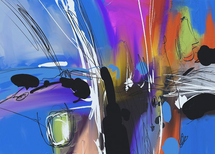 Blue abstract von Wilfried van Dokkumburg