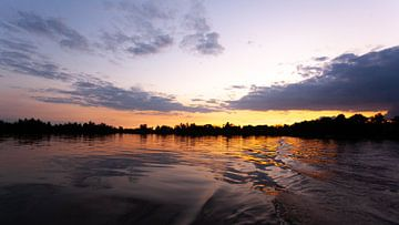 Sonnenuntergang über den Vinkeveen-Seen von Marc Molenaar