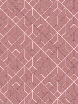 Geometrische Patroon Print - Roze van MDRN HOME
