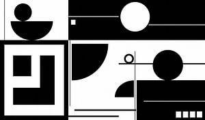 Formen-Schwarzweiß