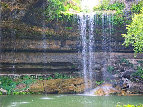 Waterval bij Hamiltons Pool van Gerrie Tollenaar