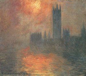 Parlament bei Sonnenuntergang, Claude Monet