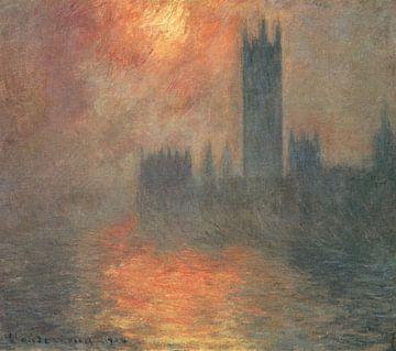 Le Parlement au crépuscule, Claude Monet