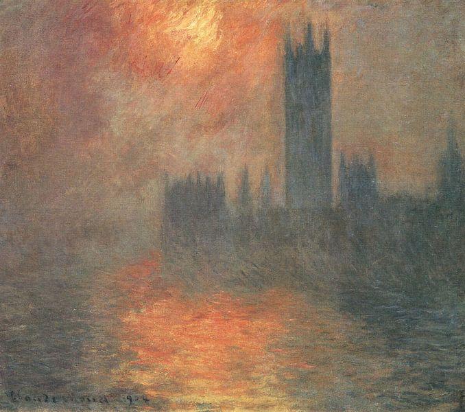 Parlament bei Sonnenuntergang, Claude Monet von The Masters