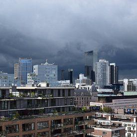 Rotterdam skyline van Ton Kuijpers