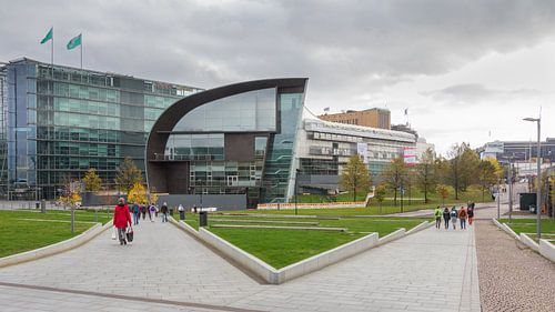 Stadsgezicht Helsinki met Kiasma museum