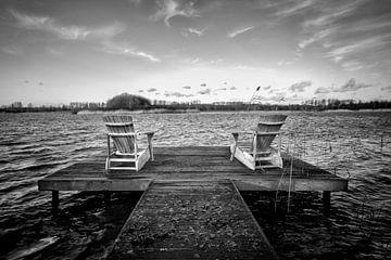 Blick über den See. von Pieter van Roijen