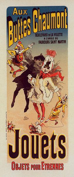 Vintage Poster for Magasin Aux Buttes Chaumont. Jules Cheret, (1836-1932) van Liszt Collection