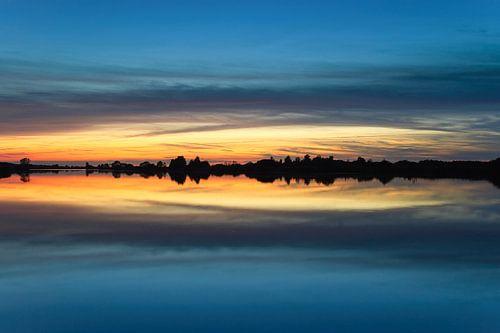 Zonsondergang Folkertsleat in Nationaal Park De Alde Feanen van