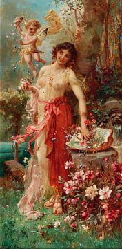 Schönheit im Blumengarten, hans zatzka von Atelier Liesjes