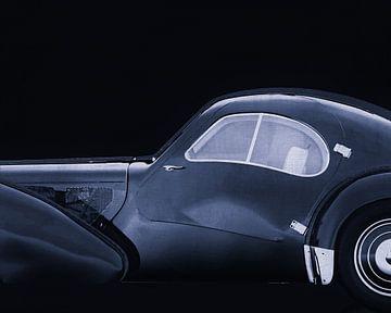 Bugatti Phoenix 57-SC Atlantic 1938 B&W