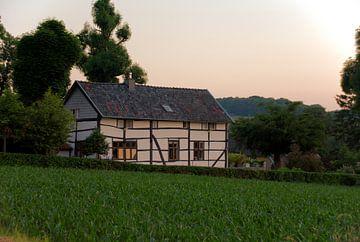 Ein Fachwerkhaus in der Limburger Abendsonne.