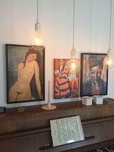 Kundenfoto: Weiblicher Akt - Amedeo Modigliani - 1916 von Atelier Liesjes, auf leinwand
