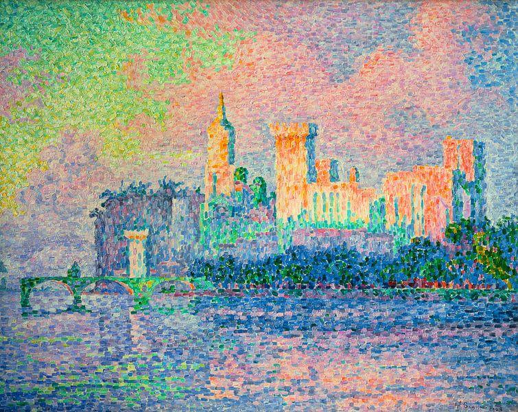 Der Päpstliche Palast, Avignon, Paul Signac von Meesterlijcke Meesters
