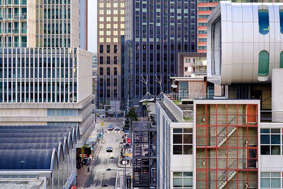 Architectuur op de Kop van Zuid in Rotterdam van Mark De Rooij