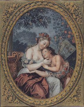Flora und Zephyr, Jean François Janinet, 1771 von Atelier Liesjes