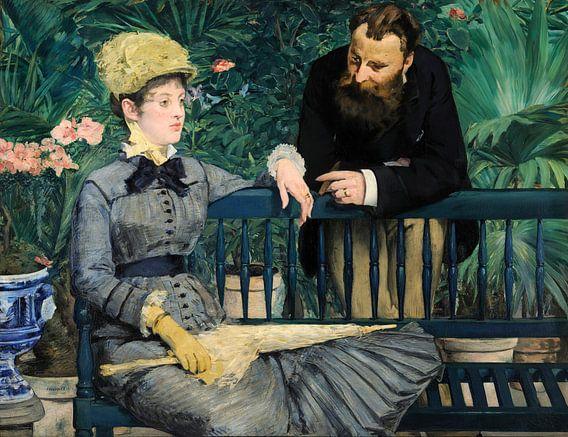 In de serre, Édouard Manet