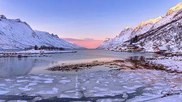 Ersfjord im Winter, Norwegen von Adelheid Smitt