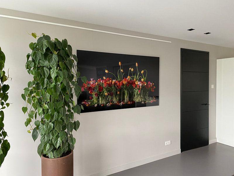 Klantfoto: Tulpen stilleven van Dirk Verwoerd, op aluminium