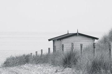 Het huisje bij de strandopgang. von Jan Mulder