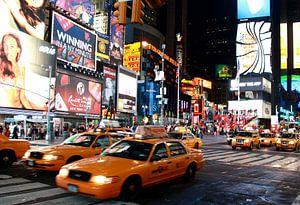 Times square at night van