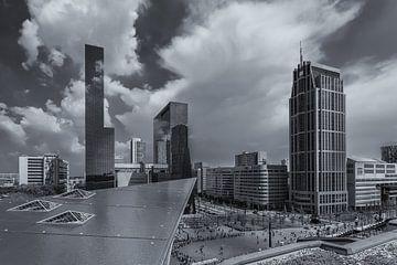 Uitzicht op het Centraal station in Rotterdam vanaf het Groothandelsgebouw van Tux Photography