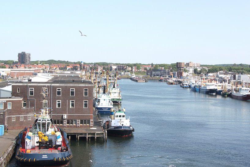 De Haven van IJmuiden van Felagrafie .