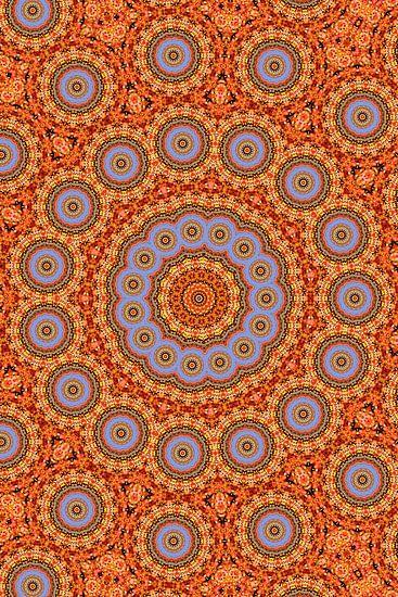 Kaleidoscoop Herfstblad van Bright Designs