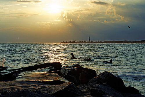 Cape May Sonnenuntergang van Borg Enders