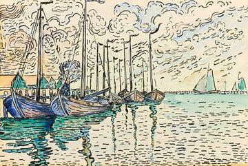 Volendam, Fischerboote, Paul Signac von Atelier Liesjes