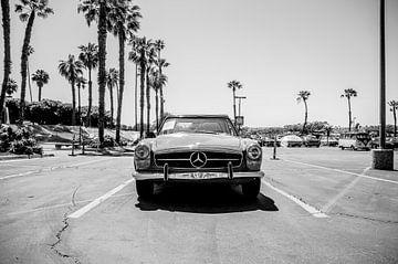 Schwarz-Weiß-Foto Mercedes Benz SL von Bram van den Broek