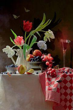 Stilleven 'The Tulip room' van Willy Sengers