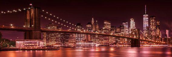 MANHATTAN & BROOKLYN avond Impressions | panorama