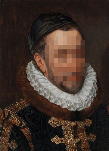 Portret van Willem I, prins van Oranje, Adriaen Thomasz. Key