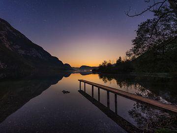 Laatste licht bij het Bohinje-meer van Denis Feiner