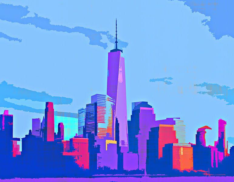 Sunlight over the city von PictureWork - Digital artist