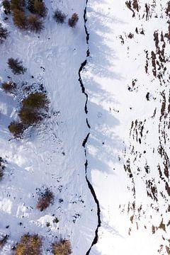 Drone shot, Dolomieten, Italie van Thousandtravelmiles