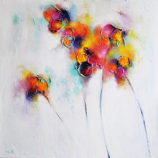 Textured Flowers van Maria Kitano