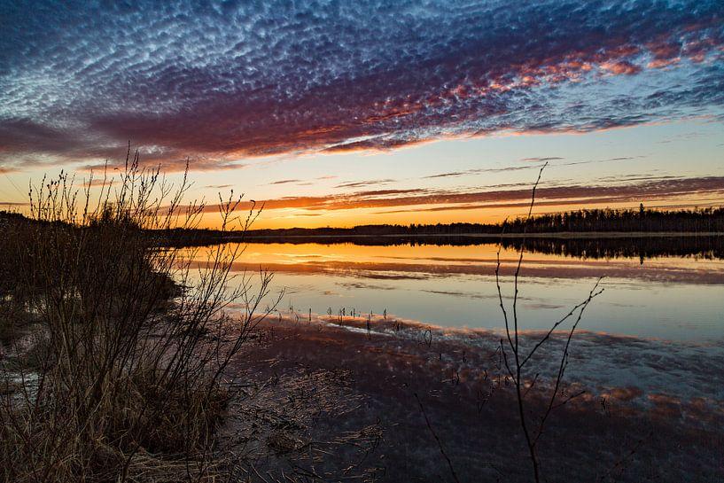 Middernacht in Zweden. van Hidde Hageman
