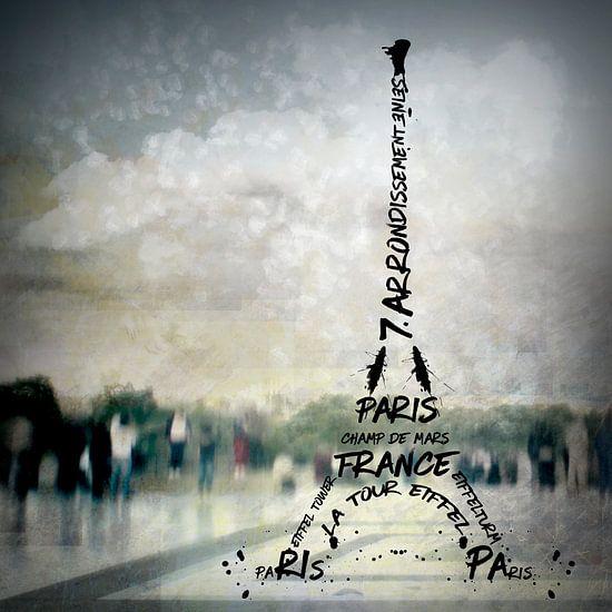 Digital-Art PARIS Eiffel Tower No.2