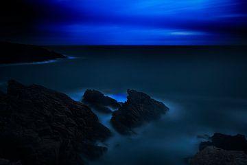 Zeezicht bij nacht van Steven Massart