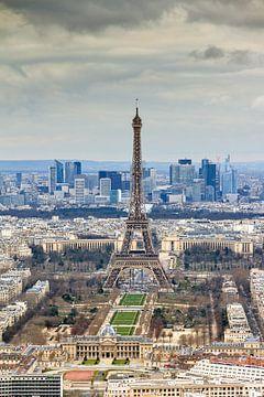 Uitzicht op de Eiffeltoren Parijs van Dennis van de Water