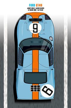Rodriguez-Bianchi GT40 Le Mans winnaar 1969 van Theodor Decker