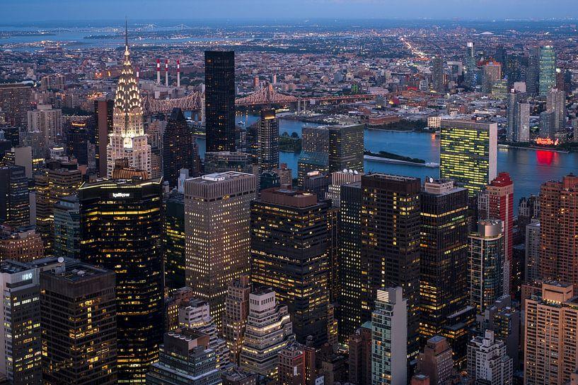 Blick vom Empire State Building van Kurt Krause