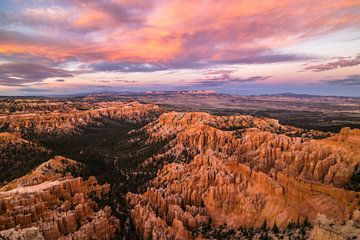 zonsondergang in Bryce canyon von Ton Kool
